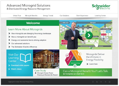 Schneider-Electric-Microgrid-Website